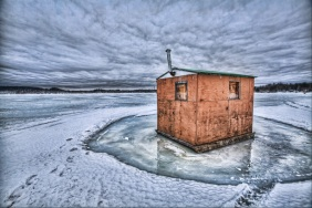 Typical Ice-fishing shack